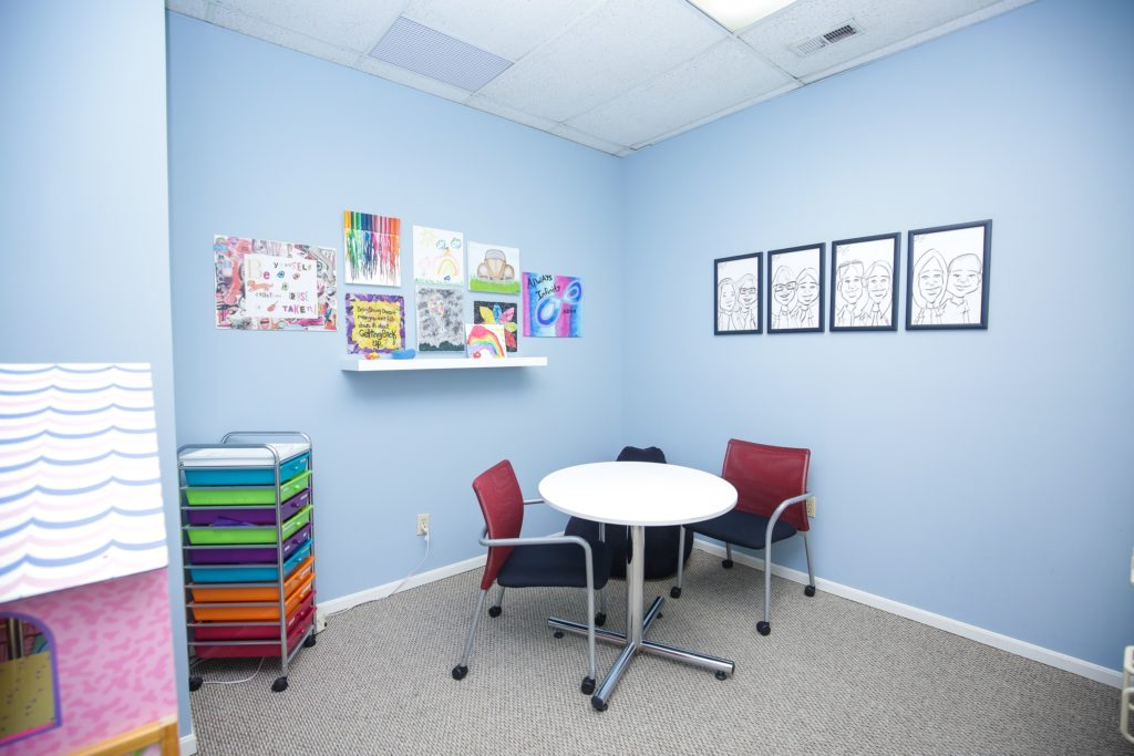 Our Art Therapy room offers comfortable space and art supplies.
