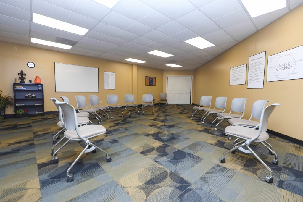 Group therapy room at The Right Solution Counseling St Louis, MO office