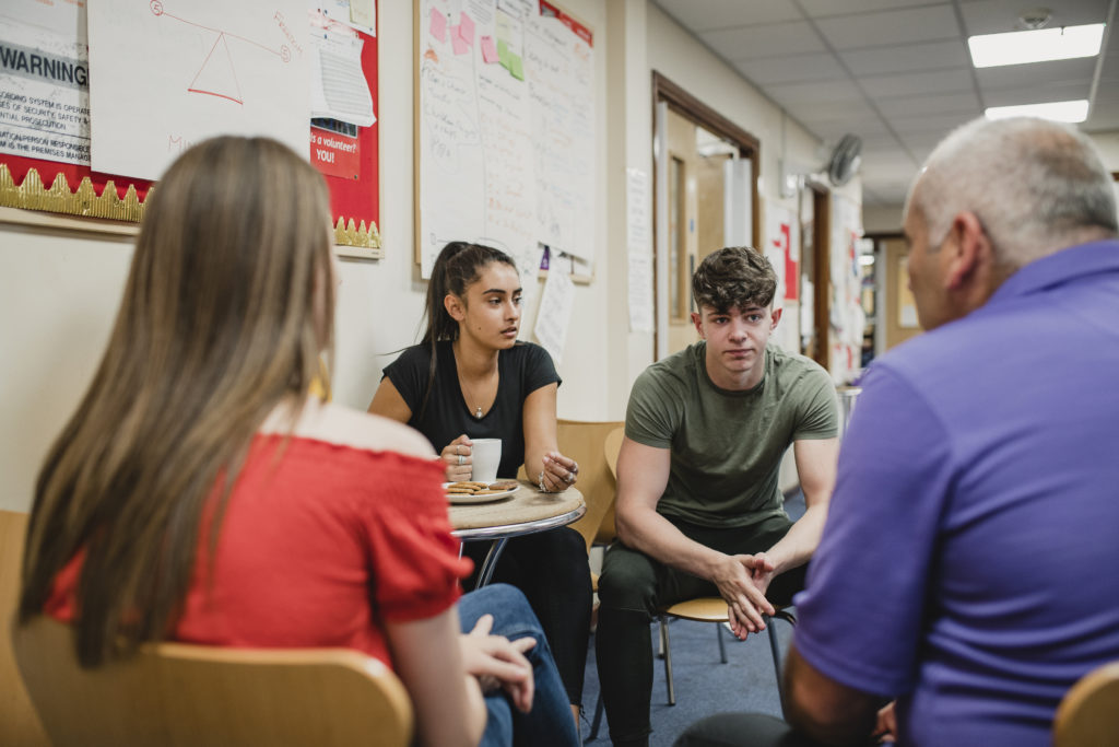 Mental health professional speaks to students